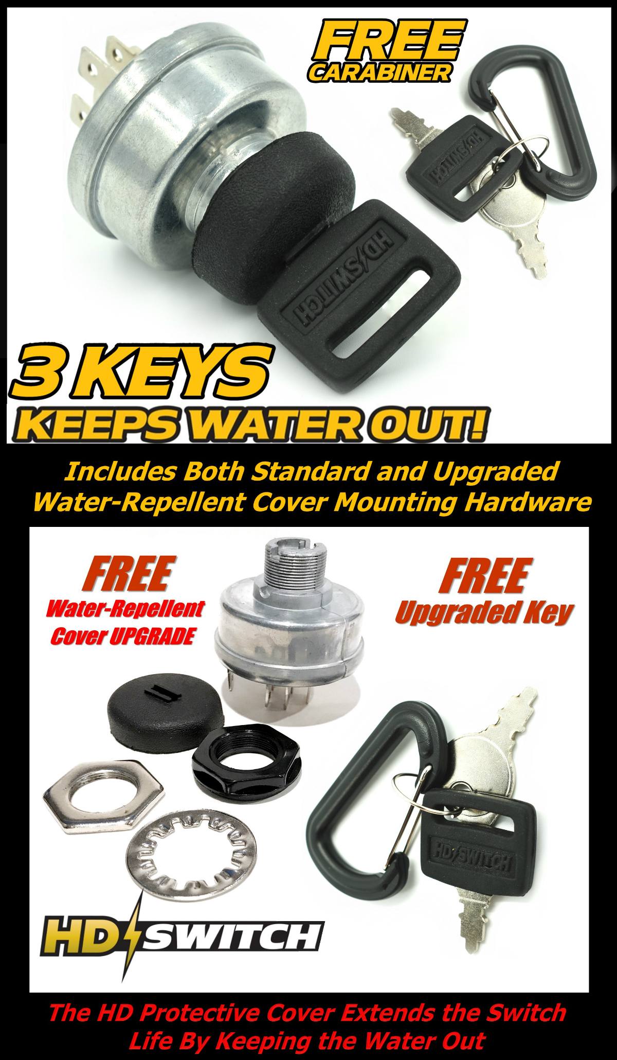 starter ignition key switch replaces john deere am119111. Black Bedroom Furniture Sets. Home Design Ideas