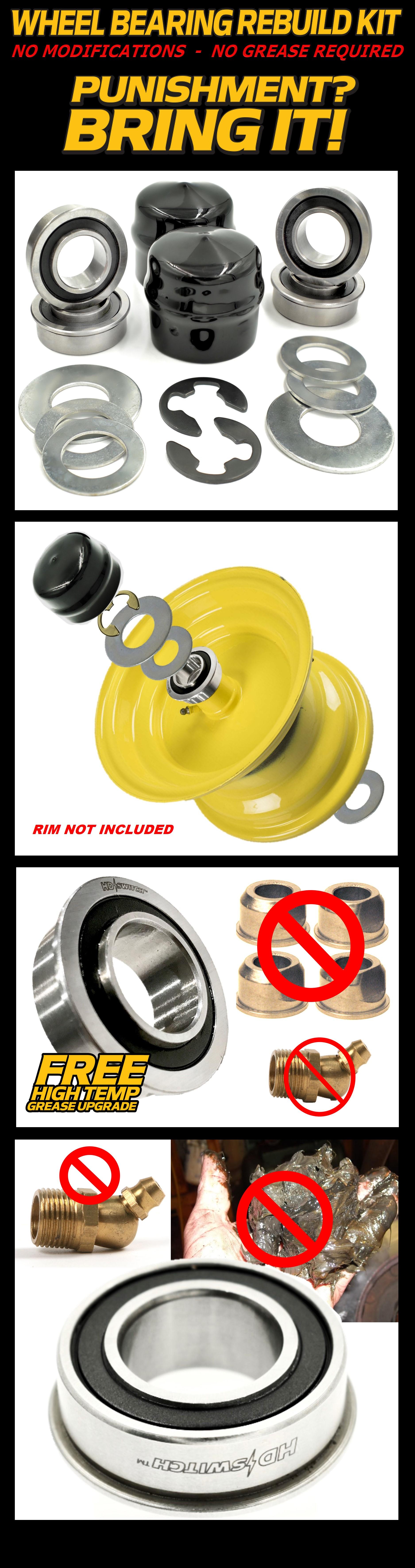 Wheel Bearing Rebuild Kit replaces Deere Sabre Scotts L1742 L2048 L2548 LT160